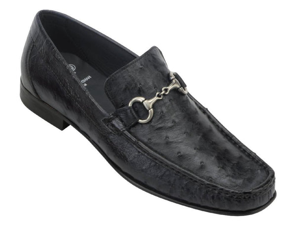 Toscana 3238 Black Ostrich Loafer