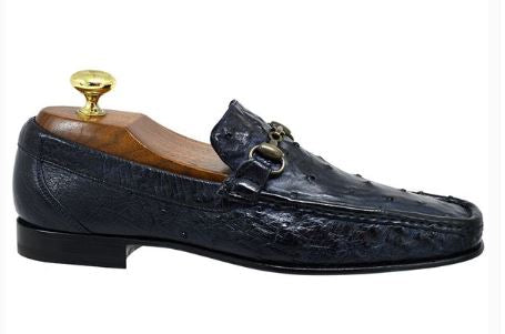Toscana 3238 Blue Ostrich Loafer