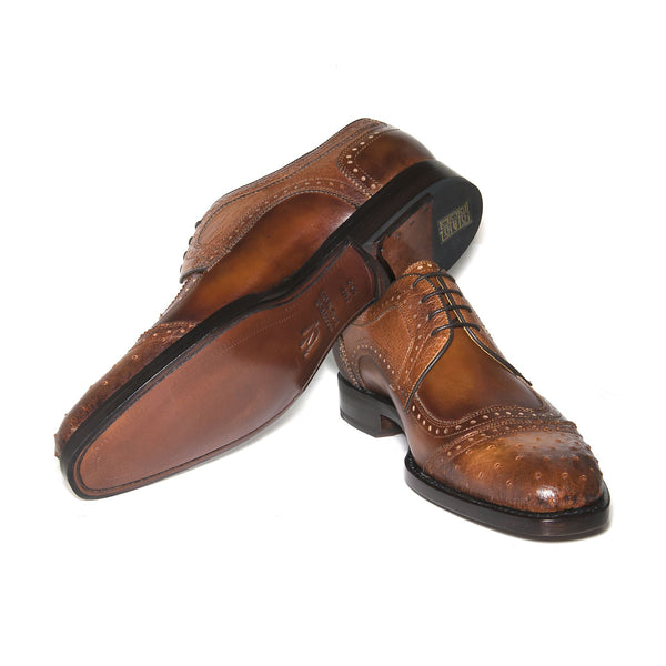 "Ugo Vasare ""Ajax Ostrich Derby"" Brown Shoe"