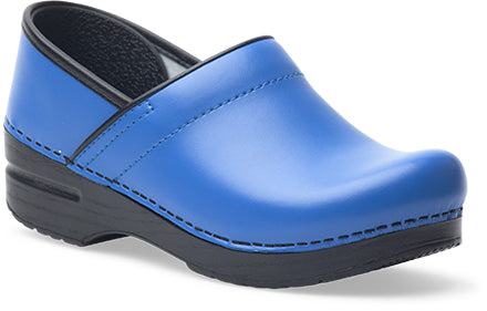 Women's Professional Clogs in Cobalt Box Leather