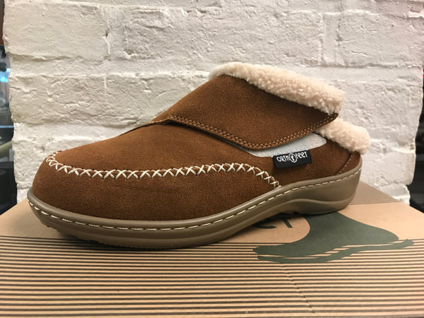 Women's Orthofeet Brown Slipper