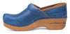 Women's Professional Clogs in Blue Scrunch Leather