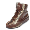 "Mauri ""freedom"" Brown/beige Printed Python High Top Sneaker"