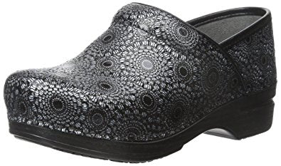 Dansko Women's Wide Pro XP Black Medallion Patent Leather