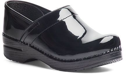 "Women's Professional Clogs in Patent Leather ""Black"""