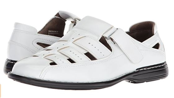 Stacy Adams Men's Bridgeport Closed Toe Fisherman Sandal White