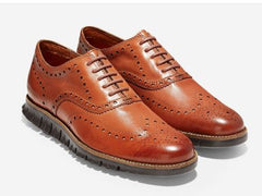 Giovanni Gala Chocolate Brown//Cognac  Wingtip Oxford Shoes