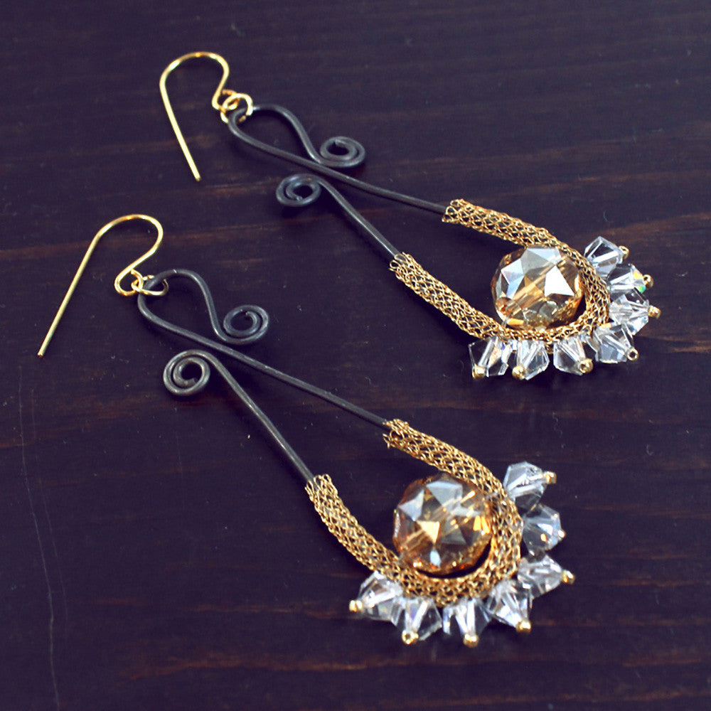 Red Carpet Sparkle - How to Make Elegant Earrings