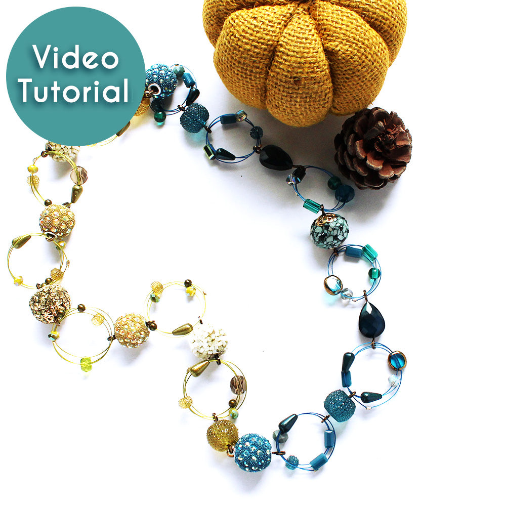 How-To Video: Interstellar Necklace with Beaded Rings