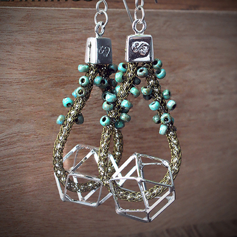 Polygon Perfection - How to Make Geometric Dangle Earrings