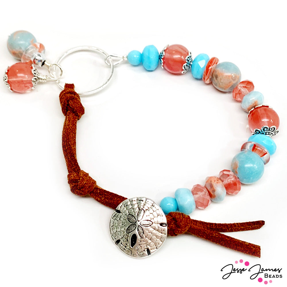 How-To Jewelry Video: Cotton Candy Jasper Bracelet