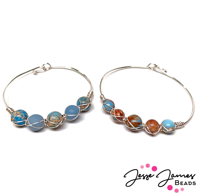 Fun & Easy Bangle featuring Dakota Stones