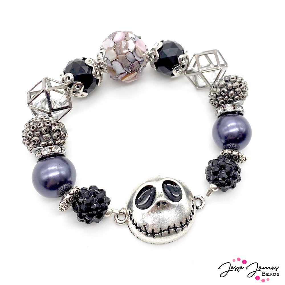 How-To Jewelry Tutorial: Gothic Ghoul-Power Bracelet