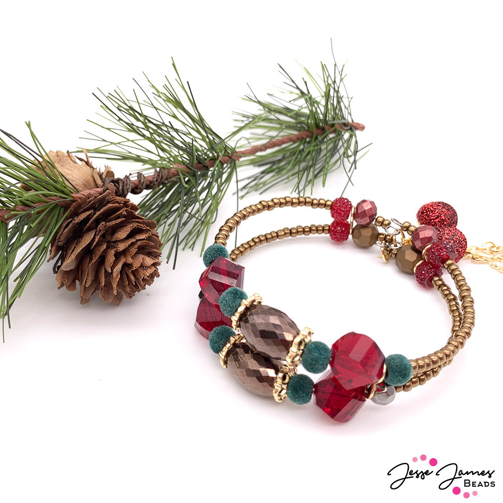 How-To Jewelry Video: Memory Wire 101 Tis the Season Bracelet
