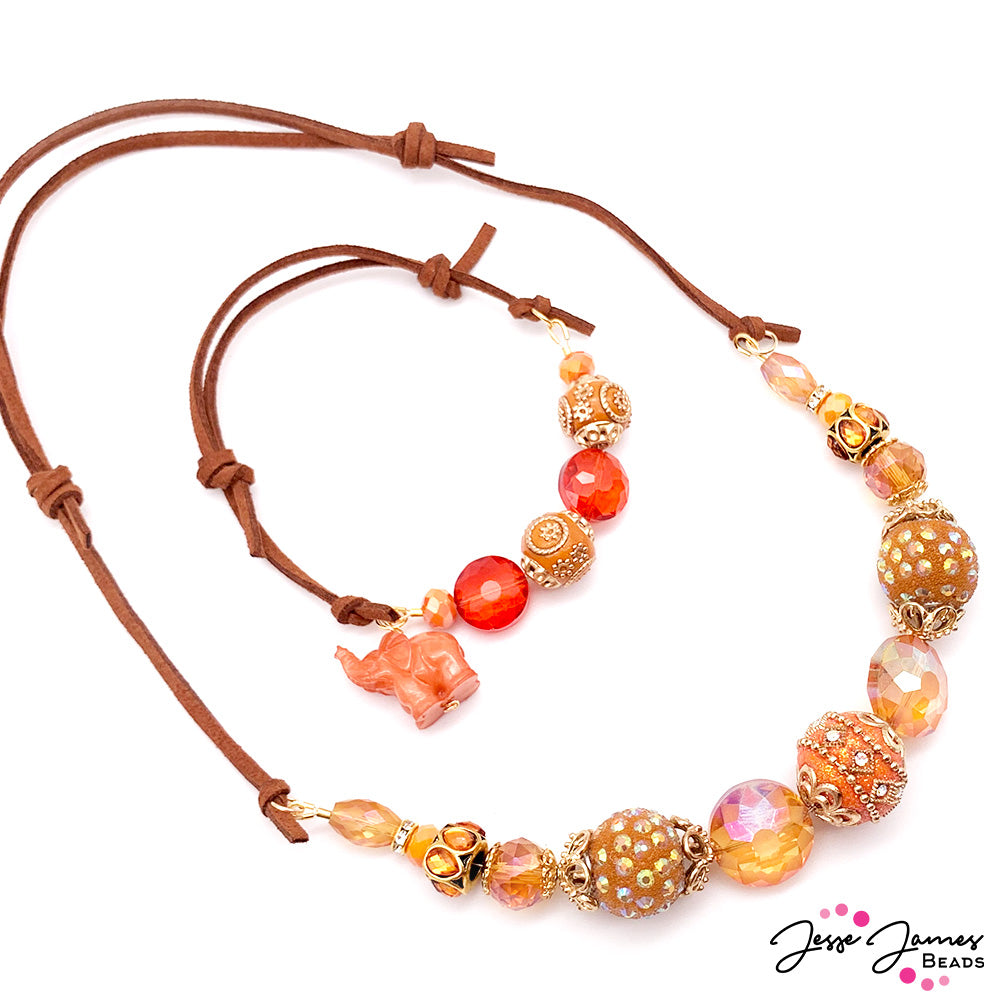 How-To Jewelry Tutorial: Orange You Glad Necklace & Bracelet Combo