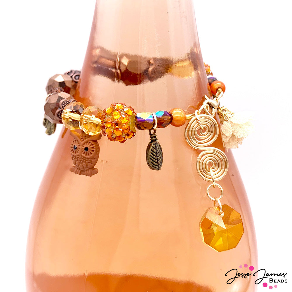 DIY Jewelry Video: 2-in-1 Hostess Gift Bracelet and Wine Bottle Topper