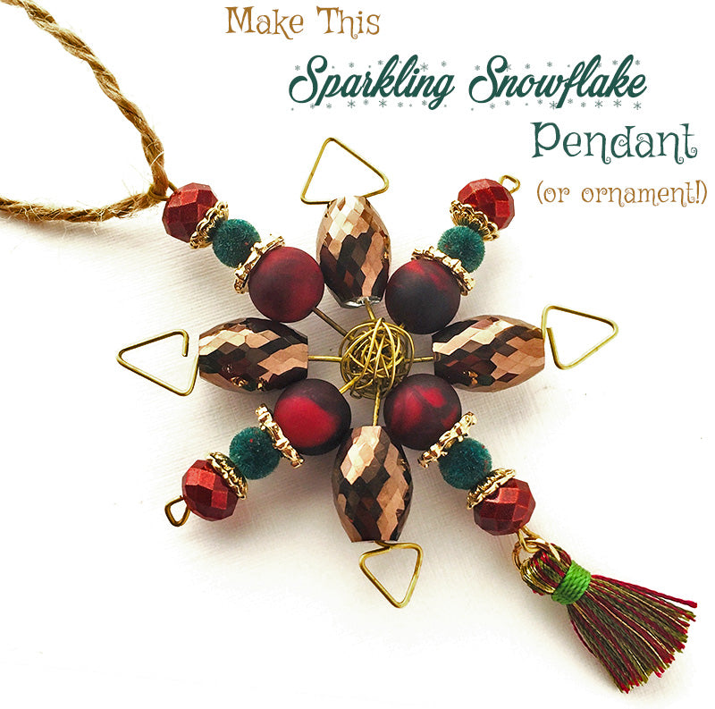 How-To Video: Beaded Snowflake Ornaments