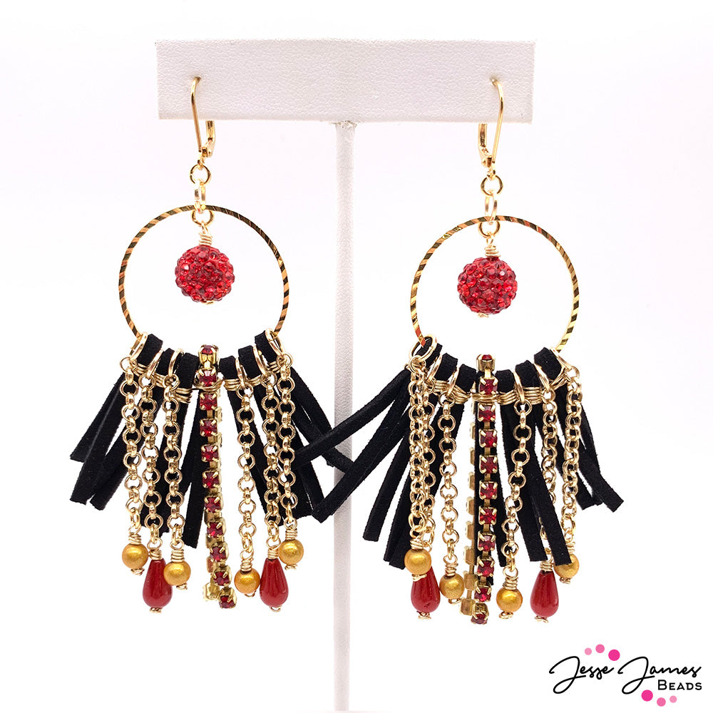 How-To Jewelry Tutorial - Wire-Wrapped Super Bowl Ready Earrings