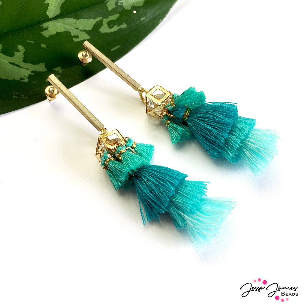 How-To Video: Tantalizing Teal Tassel Earrings