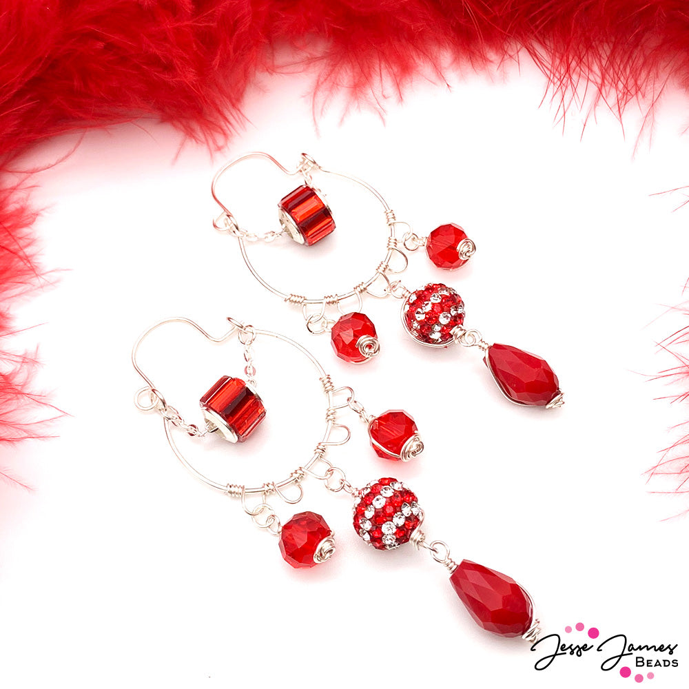 Holiday Crafts Series! Wire-Wrapped Ho Ho Holiday Earring Tutorial