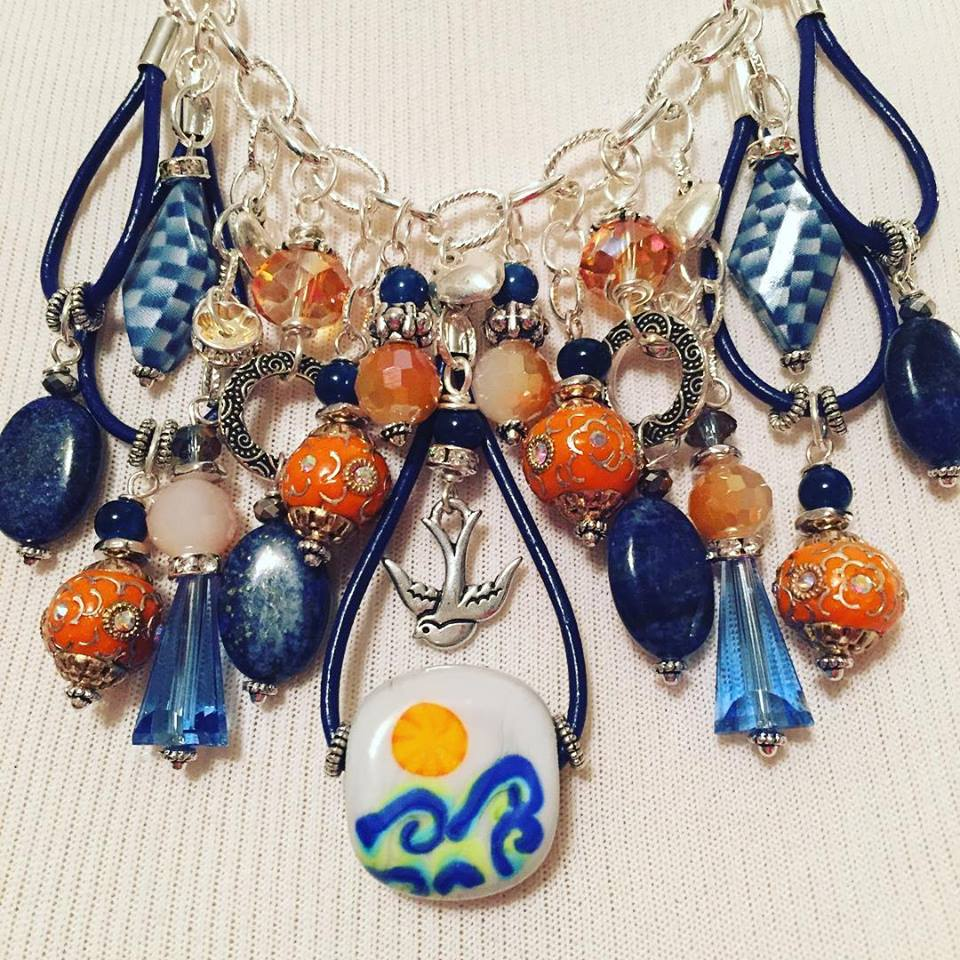 Beads of Courage Necklace made by Candie Cooper featuring Jesse James Beads