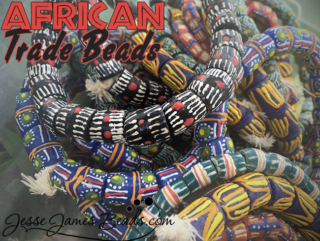 African Trade Beads with Text