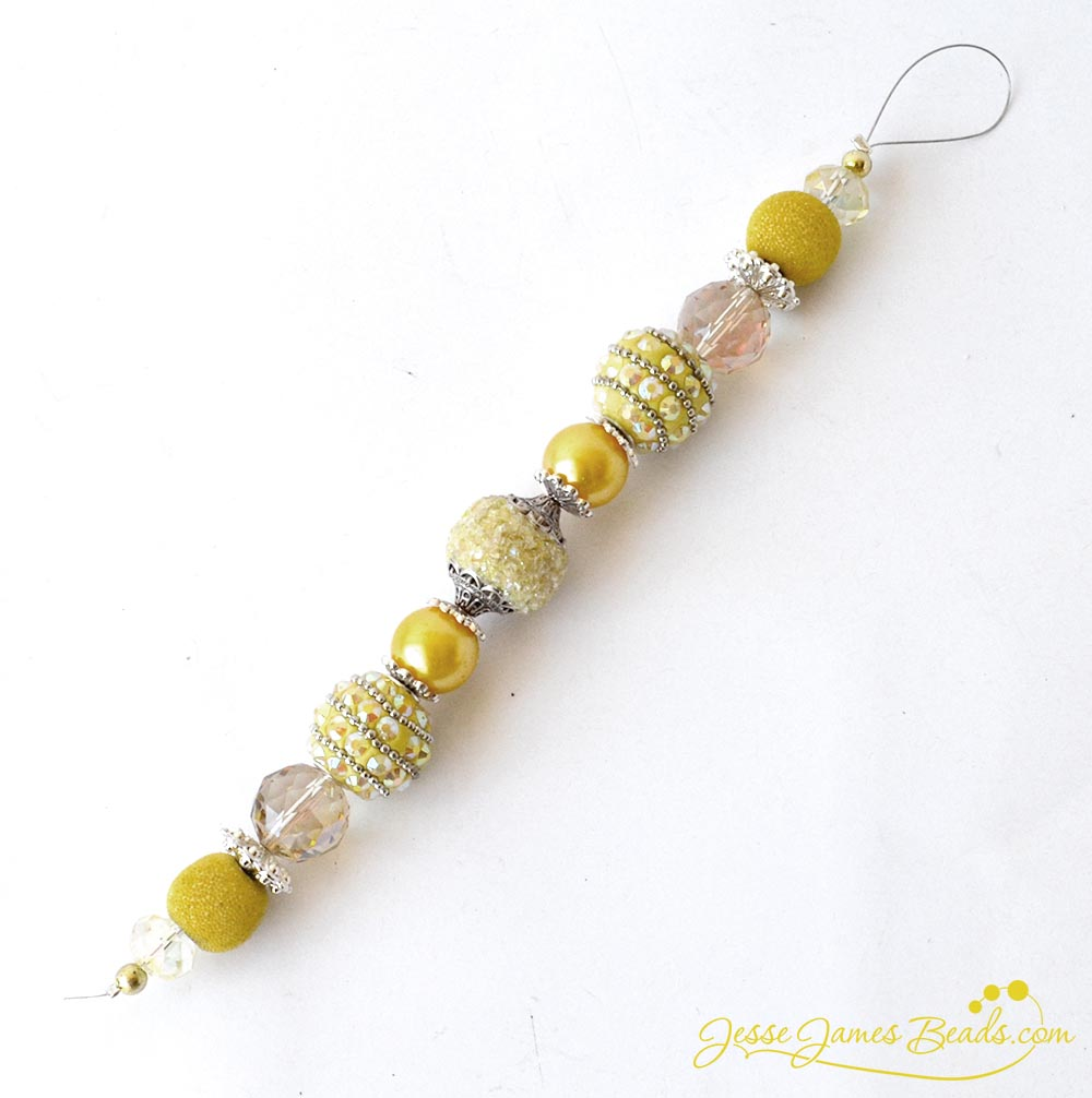 Buttercup Pantone Strand from Jesse James Beads - Beads perfect for Easter Jewelry Making