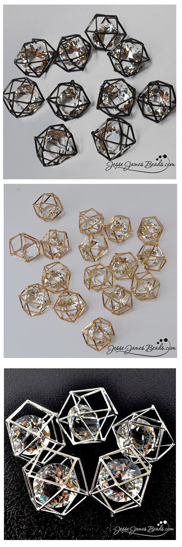 Cage Crystal Beads from Jesse James Beads