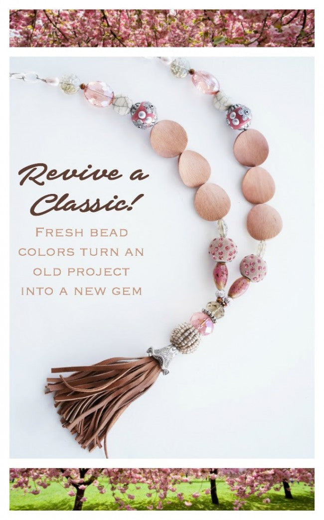 Cherry Blossom Tassel Necklace Candie Cooper for Jesse James Beads