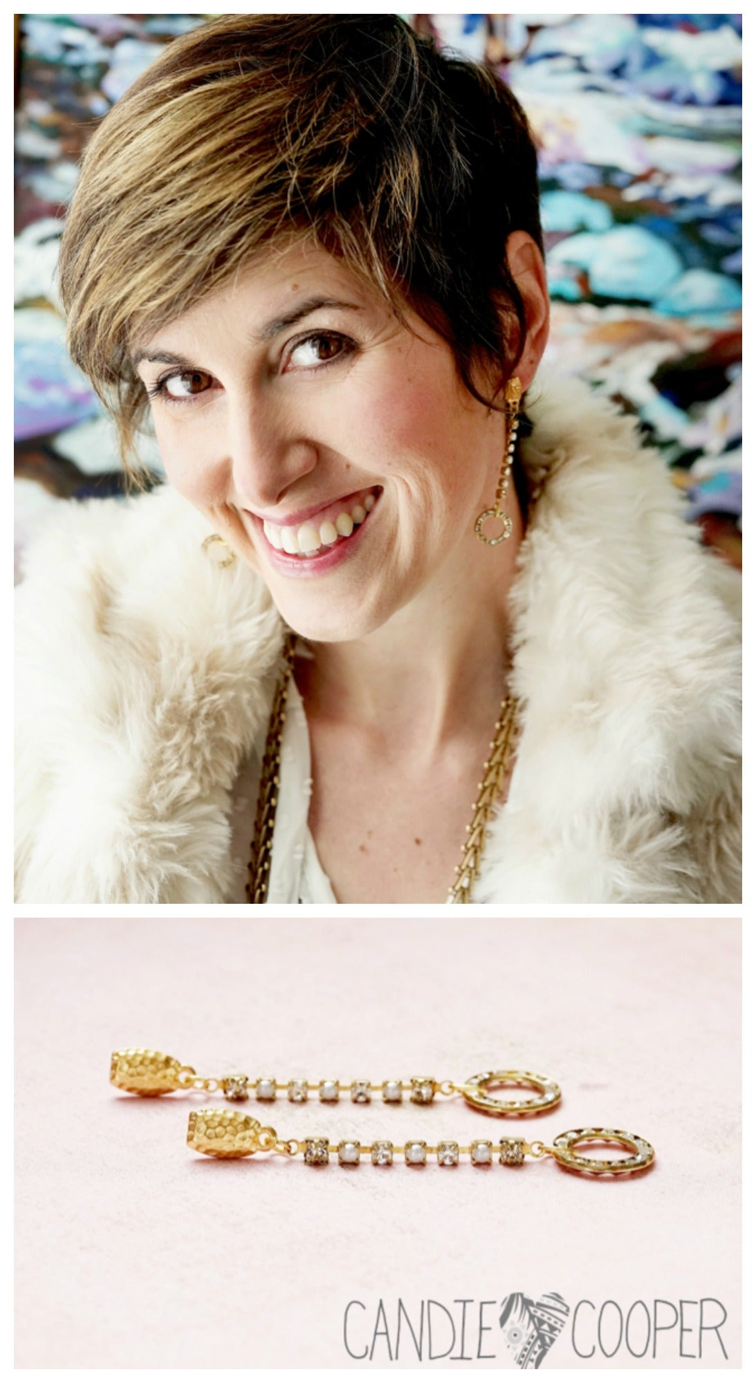 DIY Style Red Carpet Ready Earring Project from Candie Cooper featuring Cup Chain from Jesse James Beads