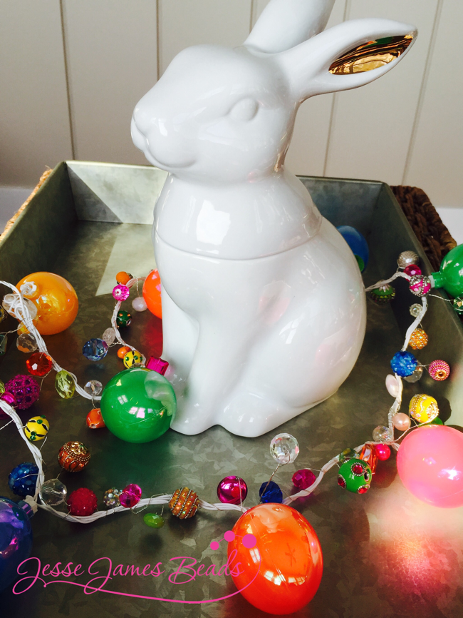 Easter table center piece idea from Jesse James Beads