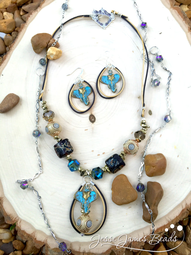 Elephant Jewelry DIY Necklace and Earring set10