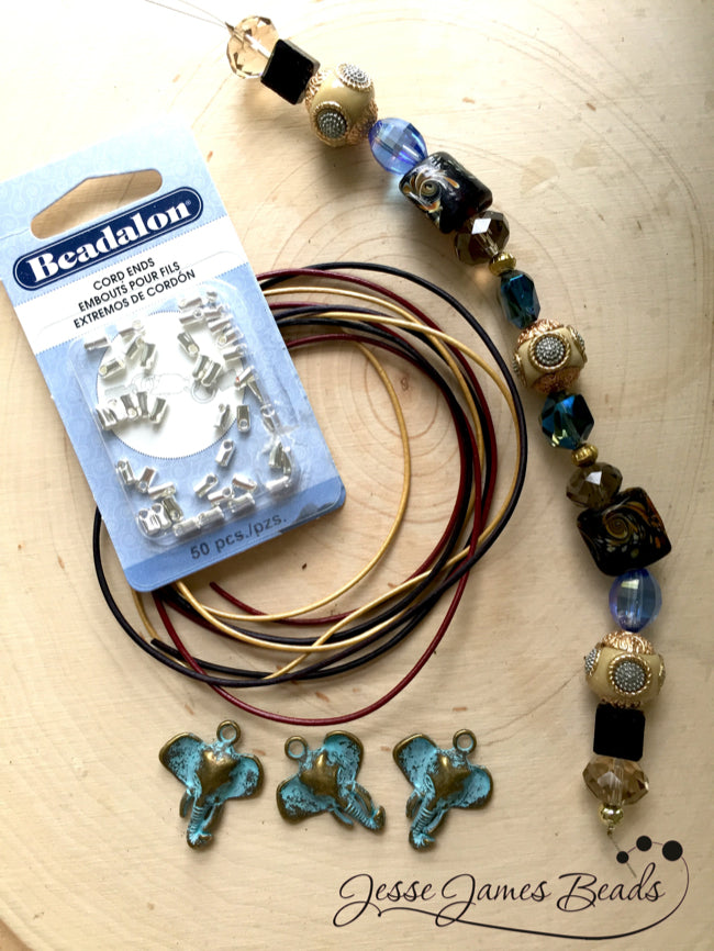 Elephant Jewelry DIY Necklace and Earring set11