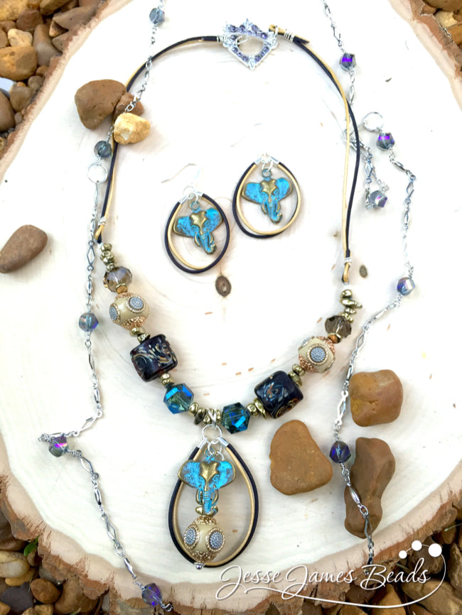 Elephant Jewelry DIY Necklace and Earring set9