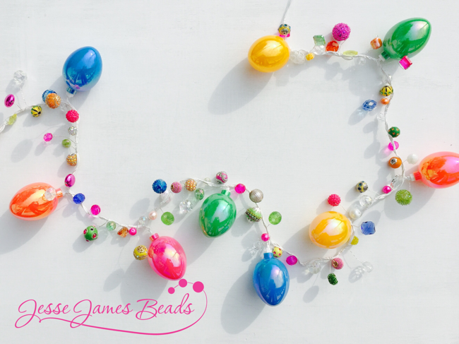 Beaded Easter Craft with lights, Easter eggs and fun beads from Jesse James Beads