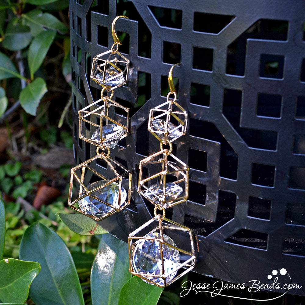 Glam Earring Project - How to Make Modern Earrings from Jesse James Beads