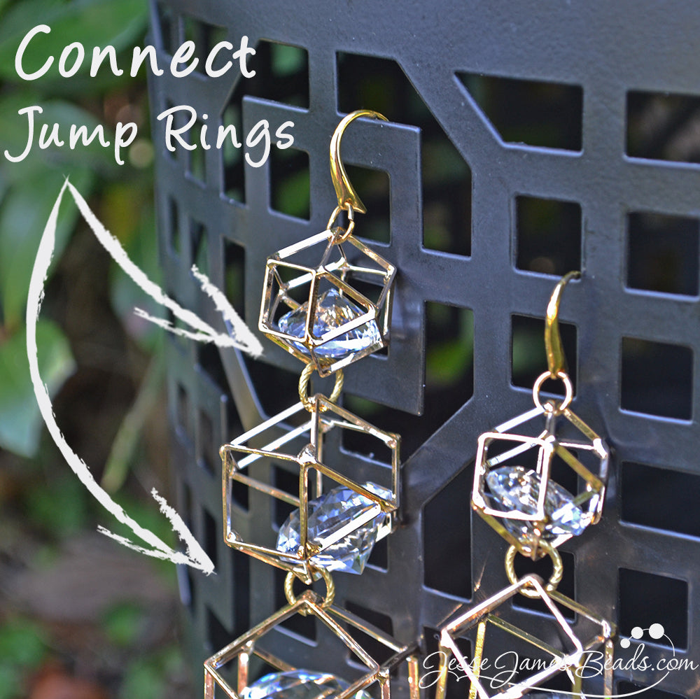 How to Make Glam Earrings - Easy jewelry project from Jesse James Beads
