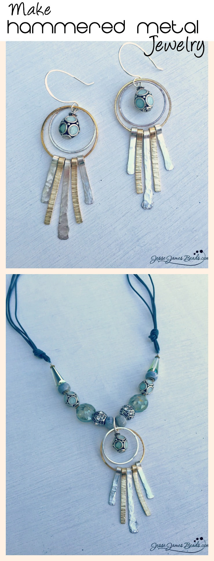 How to Make Hammered Metal Jewelry - Learn to make metal jewerly with Candie Cooper and Jesse James Beads at Bead Fest