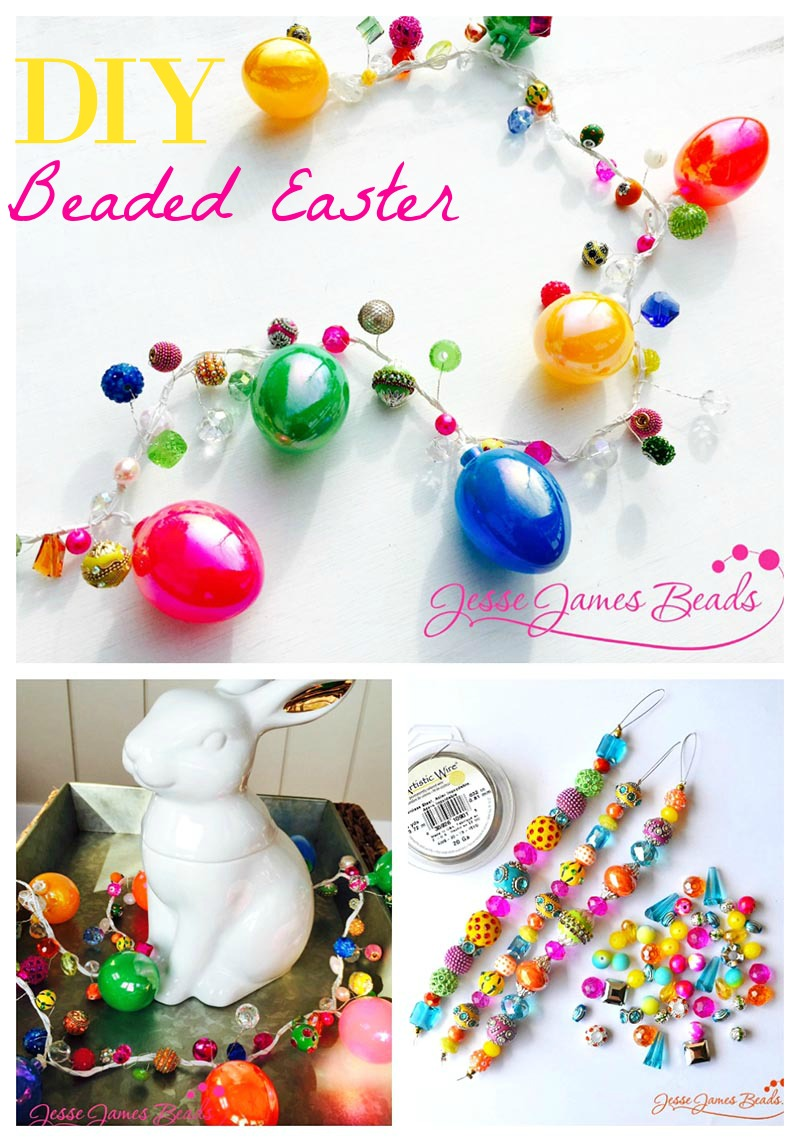 How to Make a Beaded Easter Craft - Beaded garland for holiday decorating from Jesse James Beads