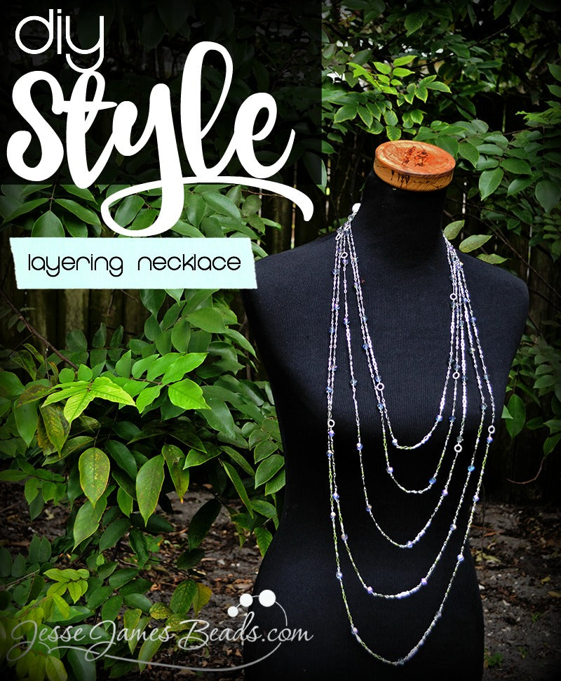 How to make a layering necklace using beaded chain from Jesse James Beads