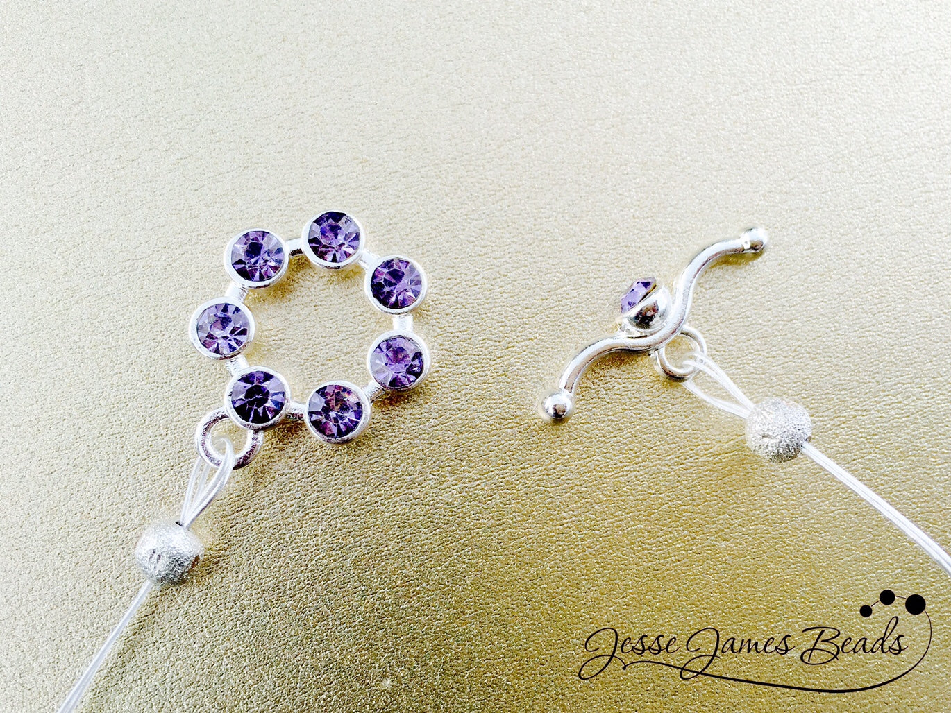 Purple Rain Necklace Clasp - Sparkly Purple Toggle Clasp for Jewelry Making from Jesse James Beads