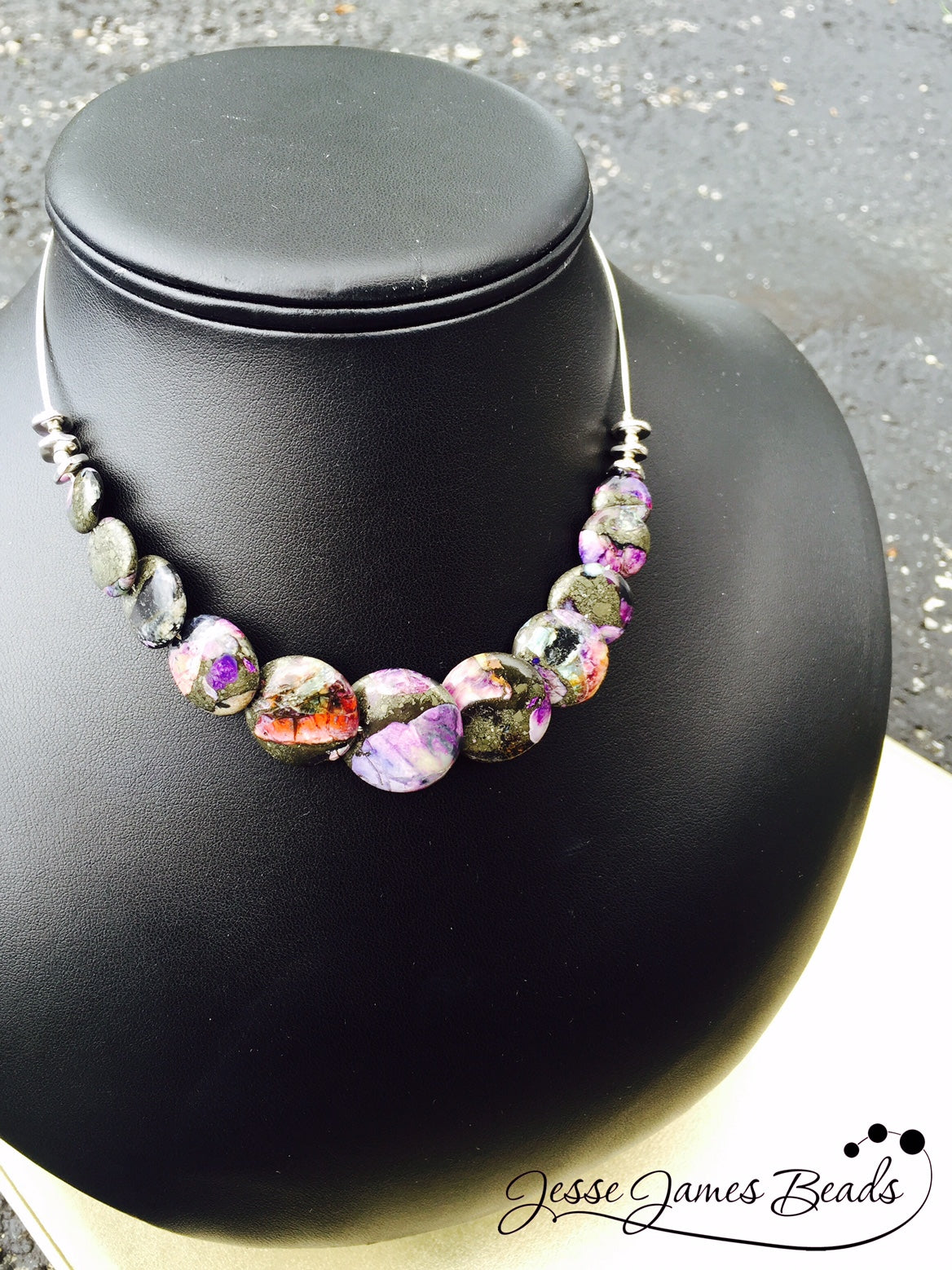 Purple Rain Necklace Project from Candie Cooper and Jesse James Beads