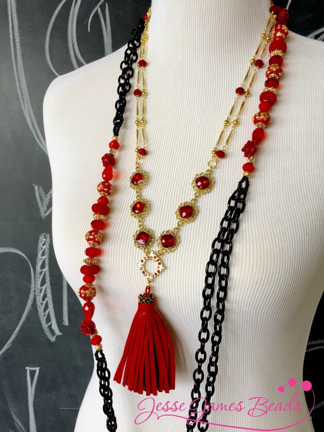 Jewelry Making Valentine's Necklaces from Jesse James Beads and Candie Cooper