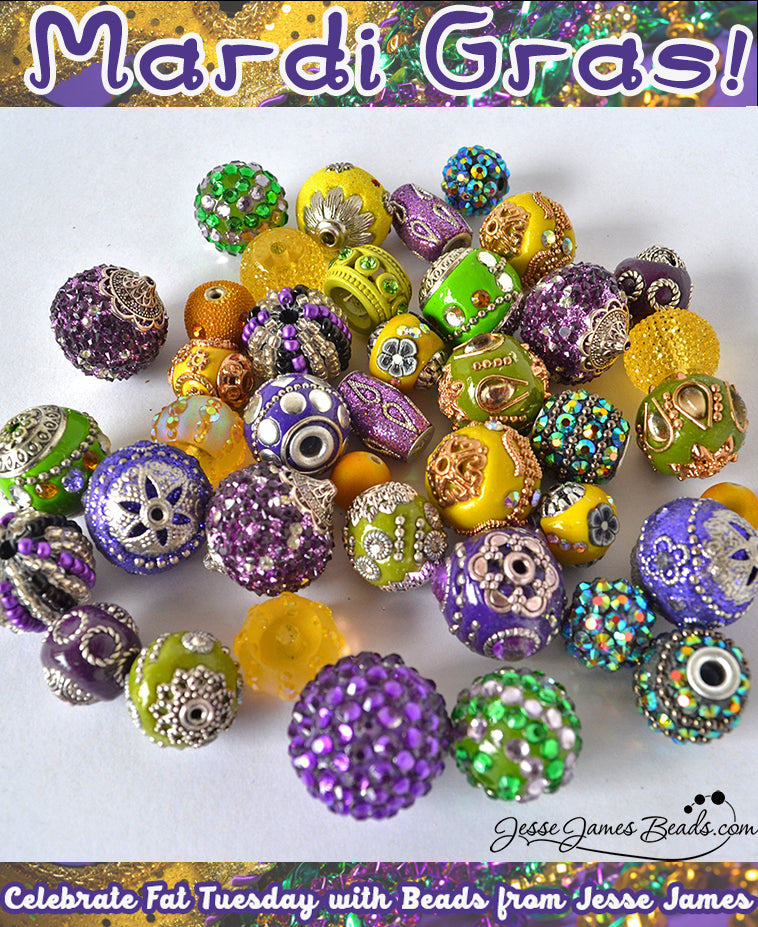 Mardi Gras Beads and Bead History from Jesse James Beads