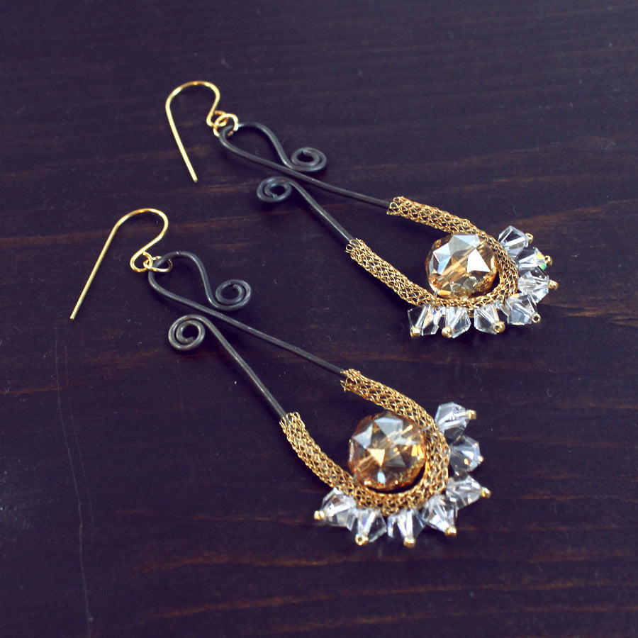 Nealay Patel Style DIY Earrings for the Candie Cooper Blog Hop featuring Jesse James Beads