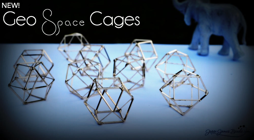 New Geo Space Cages from Jesse James Beads