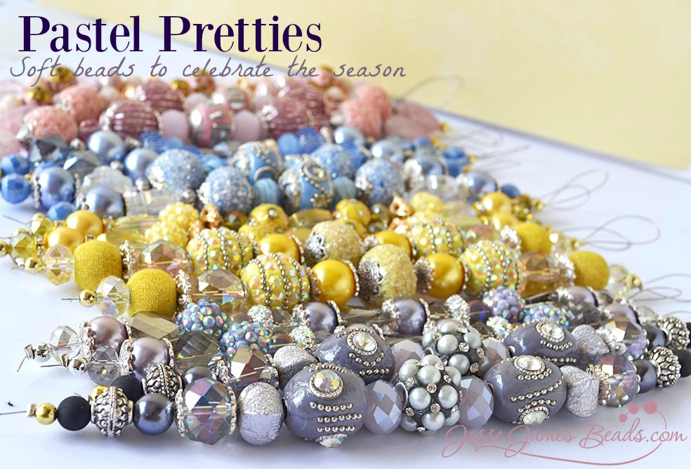 Pastel beads for Easter Jewelry Making - Spring beads from Jesse James Beads