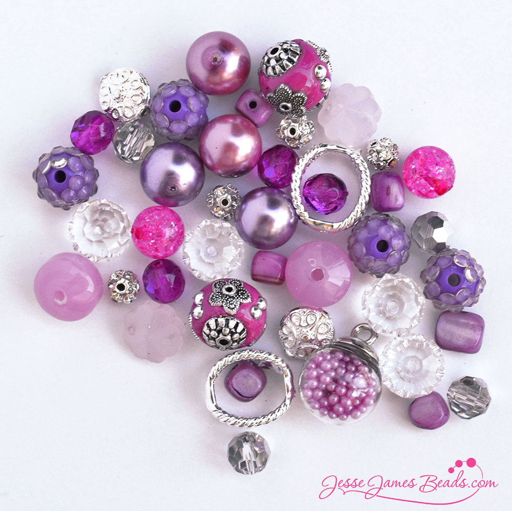 Raspberry Beret - Magenta Bead Mix from Jesse James Beads