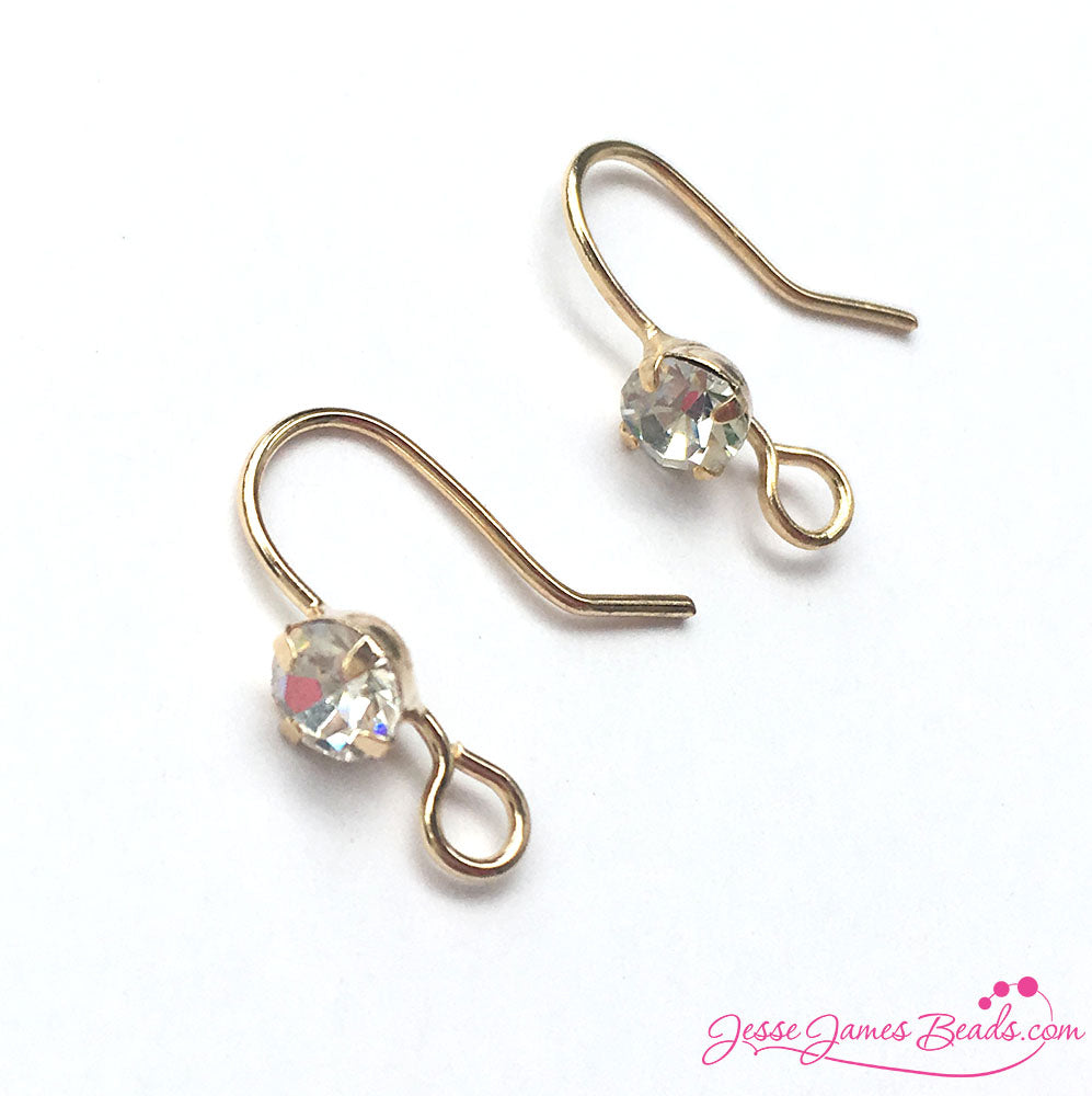 Sparkle on with new Rhinestone Earring Hooks