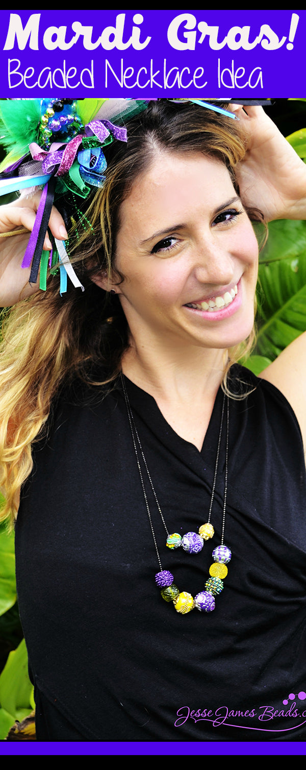 Mardi Gras Beads and DIY Necklaces from Jesse James Beads